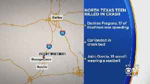 Teenager From Garland Killed, 4 Others Injured In Single-Vehicle Crash Near Austin [Video]