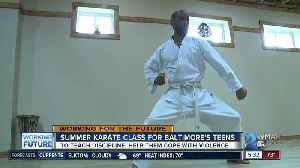 Nonprofit offers summer karate class to teach teens discipline, help them cope with violence [Video]