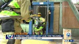 Firefighters carry out live fire training [Video]