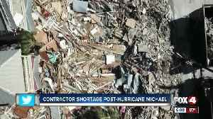 Contractor shortage from Hurricane Michael causes delays [Video]