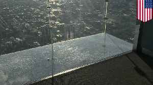 News video: 103-story high glass floor at Willis Tower shatters under visitors' feet