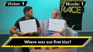 The Amazing Race's Victor And Nicole Quiz Each Other With Fiancée Facts [Video]