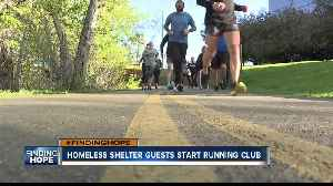 Interfaith Sanctuary guests start running club; helps man stay sober [Video]