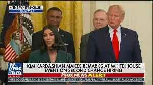Kim Kardashian speaks at White House [Video]