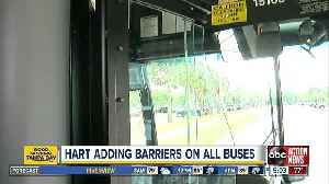 HART to install safety barriers on all buses and vans [Video]