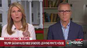 Andrew McCabe celebrates Sarah Sanders departure with Nicolle Wallace [Video]