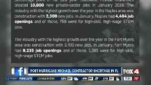 Hurricane Michael likely adding to skilled worker shortage across Florida [Video]