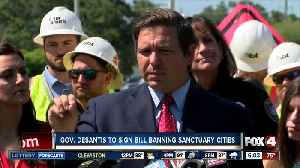 Florida Gov. DeSantis to sign 'sanctuary cities' bill Friday [Video]