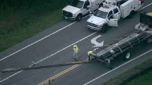 Truck hits power line in Pasco Co. causing gas leak | Action Air 1 [Video]