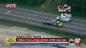Pasco homes evacuated after truck hits power line causing gas leak [Video]