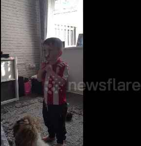 UK toddler has adorable victory dance after beating parents with spoon-on-nose trick [Video]