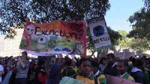 South African youths hold climate march through streets of Cape Town