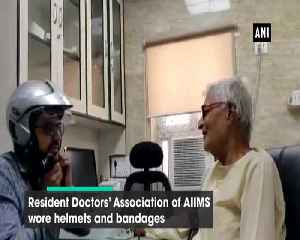 Doctors of AIIMS Delhi stage unique protest over assault on junior doctor in WB [Video]