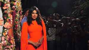 Priyanka Chopra stuns in orange dress at Mumbai event [Video]