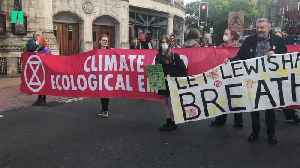 News video: Extinction Rebellion Activists Block South London Roads