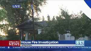 Flames Rip Through Stockton Home [Video]