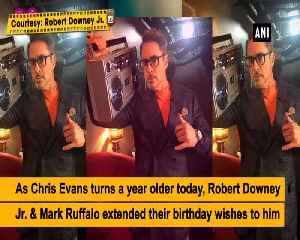 Robert Downey Jr., Mark Ruffalo wish Chris Evans on his birthday [Video]