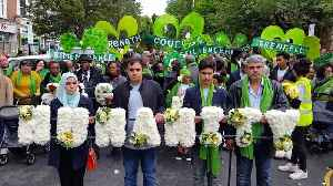 Crowds gather in North Kensington to show their solidarity on second anniversary of Grenfell Tower fire [Video]