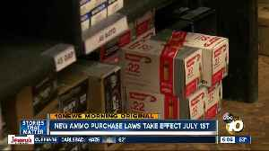 New rules on ammo sales begin July 1 [Video]