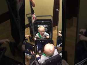 Baby Sees Three Reflections in Department Store Mirror [Video]