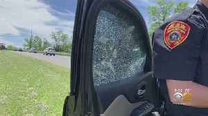 Woman Says County Mowing Crew Kicked Up Metal Debris Into Car Window [Video]