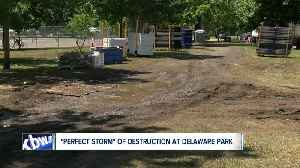 Delaware Park experienced unexpected damage after Corporate Challenge [Video]