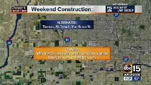 eekend Travel Alert: I-10 will close for construction! [Video]