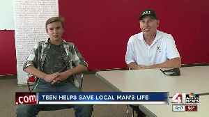 Teen helps save local man's life [Video]