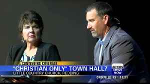 Redding Town Hall receives criticism after 'Christian Only' meeting [Video]