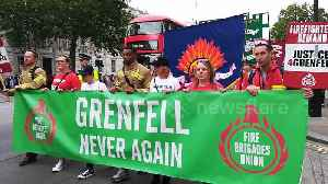 Marchers stream past Downing Street calling for justice for Grenfell [Video]
