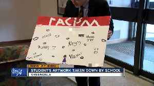 Students art taken down because it was too explicit [Video]