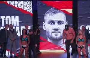 Fury and Schwarz face off at weigh in for heavyweight duel [Video]