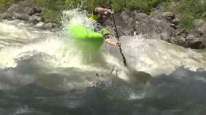 Kayakers compete for a spot in the finals in the North Fork Championship [Video]