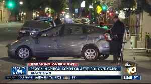 Person in critical condition after downtown San Diego crash [Video]