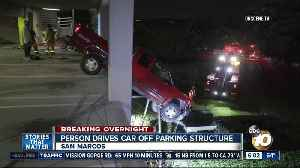 Person drives off San Marcos parking structure [Video]