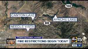 Weekend wildfire restrictions [Video]