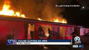 House gutted by fire in Fort Pierce [Video]