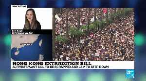News video: Hong Kong extradition bill protest analysis by correspondent Erin Hale