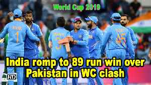 India romp to 89 run win over Pakistan in WC clash [Video]