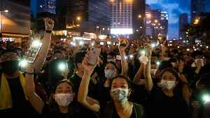 News video: HK Protesters Take To The Streets For Third Day Of Demonstrations