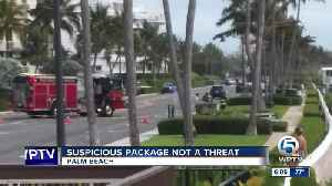 Suspicious package deemed not a threat in Palm Beach [Video]