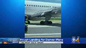 Flight From Denver To Newark Blows Tires Upon Landing [Video]