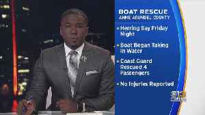 Coast Guard, AACO Officials Rescue 4 People From Boat Taking On Water In Herring Bay [Video]