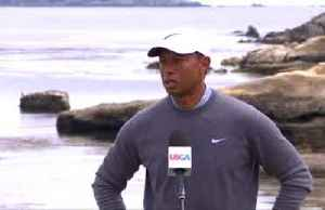 Woods feeling positive despite bad start, McDowell pleased with progress after eagle on 18 [Video]