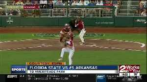 Arkansas Drops Game 1 of CWS to FSU 1-0 [Video]