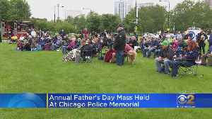 Annual Father's Day Mass Held At Chicago Police Memorial [Video]