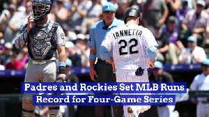 Padres and Rockies Set MLB Runs Record for Four-Game Series [Video]