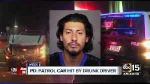 Mesa police officer's patrol car hit by drunk driver [Video]