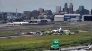 Flights halted at Newark after United plane skids off runway, no injuries [Video]