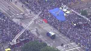 News video: St Louis celebrates Blues' Stanley Cup victory